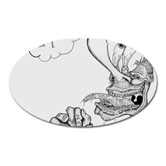 Bwemprendedor Oval Magnet