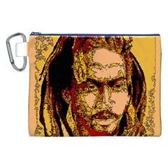 Bunnylinear Canvas Cosmetic Bag (XXL)