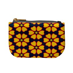 Yellow flowers pattern         	Mini Coin Purse