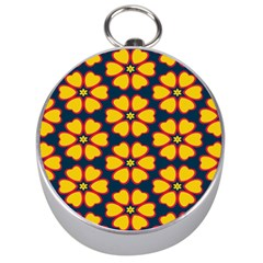 Yellow flowers pattern         Silver Compass