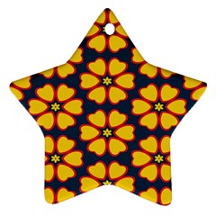Yellow flowers pattern         			Ornament (Star)