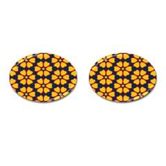 Yellow flowers pattern         Cufflinks (Oval)
