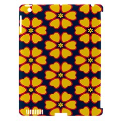 Yellow flowers pattern        			Apple iPad 3/4 Hardshell Case (Compatible with Smart Cover)