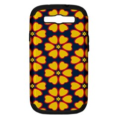 Yellow flowers pattern        			Samsung Galaxy S III Hardshell Case (PC+Silicone)