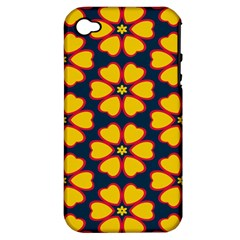 Yellow flowers pattern        			Apple iPhone 4/4S Hardshell Case (PC+Silicone)