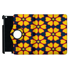 Yellow flowers pattern        			Apple iPad 2 Flip 360 Case