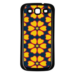 Yellow flowers pattern        			Samsung Galaxy S3 Back Case (Black)