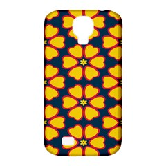 Yellow flowers pattern        			Samsung Galaxy S4 Classic Hardshell Case (PC+Silicone)