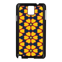 Yellow flowers pattern        			Samsung Galaxy Note 3 N9005 Case (Black)