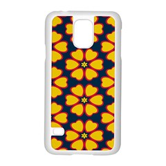 Yellow flowers pattern        			Samsung Galaxy S5 Case (White)