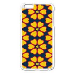 Yellow flowers pattern        			Apple iPhone 6 Plus/6S Plus Enamel White Case