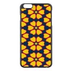 Yellow flowers pattern        			Apple iPhone 6 Plus/6S Plus Black Enamel Case