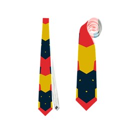 Red blue yellow shapes pattern        Necktie