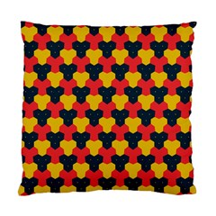 Red blue yellow shapes pattern        Standard Cushion Case (Two Sides)