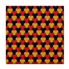 Red blue yellow shapes pattern        			Tile Coaster