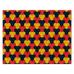Red blue yellow shapes pattern        Jigsaw Puzzle (Rectangular)