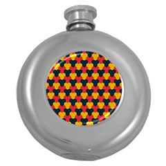 Red blue yellow shapes pattern        			Hip Flask (5 oz)