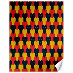 Red blue yellow shapes pattern        			Canvas 18  x 24