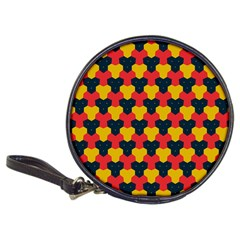 Red blue yellow shapes pattern        Classic 20-CD Wallet