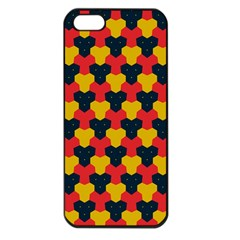 Red blue yellow shapes pattern       Apple iPhone 5 Seamless Case (Black)