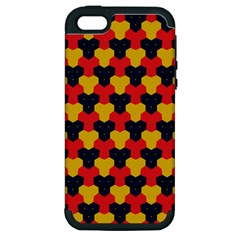 Red blue yellow shapes pattern       Apple iPhone 5 Hardshell Case (PC+Silicone)