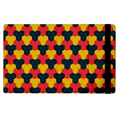 Red blue yellow shapes pattern       			Apple iPad 2 Flip Case