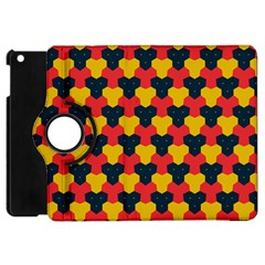 Red blue yellow shapes pattern       			Apple iPad Mini Flip 360 Case