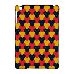 Red blue yellow shapes pattern       			Apple iPad Mini Hardshell Case (Compatible with Smart Cover)