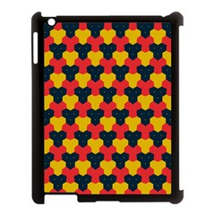 Red blue yellow shapes pattern       Apple iPad 3/4 Case (Black)