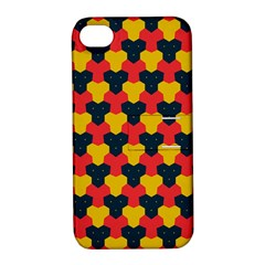 Red blue yellow shapes pattern       			Apple iPhone 4/4S Hardshell Case with Stand