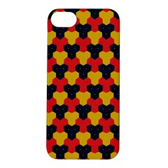 Red blue yellow shapes pattern       Apple iPhone 5S Hardshell Case