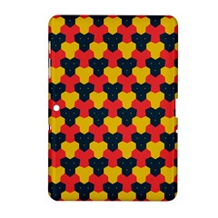 Red blue yellow shapes pattern       Samsung Galaxy Tab 2 (10.1 ) P5100 Hardshell Case