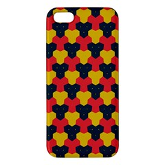 Red blue yellow shapes pattern       iPhone 5S Premium Hardshell Case
