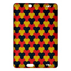 Red blue yellow shapes pattern       			Kindle Fire HD (2013) Hardshell Case