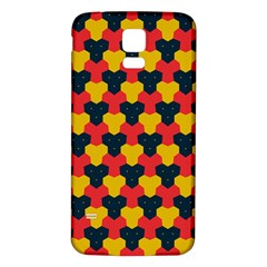 Red blue yellow shapes pattern       Samsung Galaxy S5 Back Case (White)