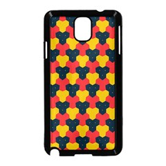 Red blue yellow shapes pattern       Samsung Galaxy Note 3 Neo Hardshell Case (Black)