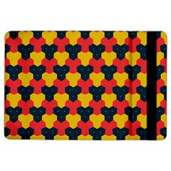 Red blue yellow shapes pattern       			Apple iPad Air 2 Flip Case
