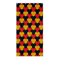Red blue yellow shapes pattern       Shower Curtain 36  x 72