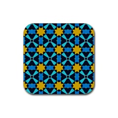 Stars pattern       Rubber Square Coaster (4 pack