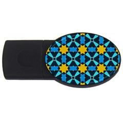 Stars pattern       USB Flash Drive Oval (2 GB)