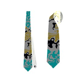 Blue brown waves       Necktie