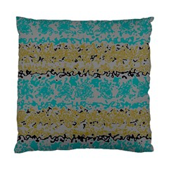 Blue brown waves       Standard Cushion Case (Two Sides)
