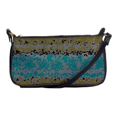 Blue brown waves       			Shoulder Clutch Bag