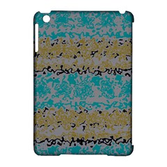 Blue brown waves      			Apple iPad Mini Hardshell Case (Compatible with Smart Cover)