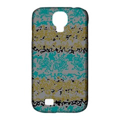 Blue brown waves      Samsung Galaxy S4 Classic Hardshell Case (PC+Silicone)