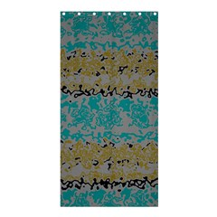 Blue brown waves      	Shower Curtain 36  x 72