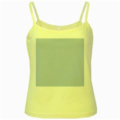 Solid Alice Blue in an English Country Garden Wedding Yellow Spaghetti Tank