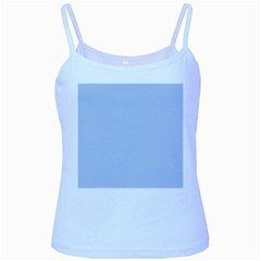 Solid Alice Blue in an English Country Garden Wedding Baby Blue Spaghetti Tank