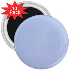 Solid Alice Blue in an English Country Garden Wedding 3  Magnets (10 pack)