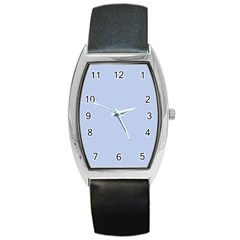 Solid Alice Blue in an English Country Garden Wedding Barrel Style Metal Watch